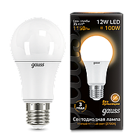Лампа Gauss LED A60 globe 12W E27 3000K