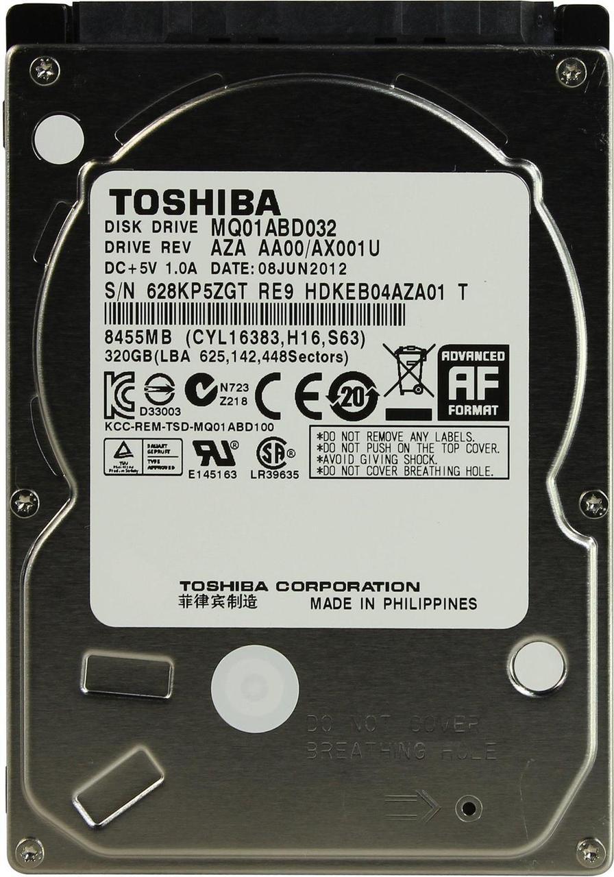 "Жесткий диск Toshiba 320GB 5400rpm 8MB MQ01ABD032 2.5"" SATAII"