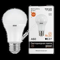 Лампа Gauss LED Elementary A60 15W E27 3000K