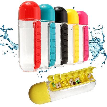 Бутылка-органайзер для таблеток и витаминов, фото 2