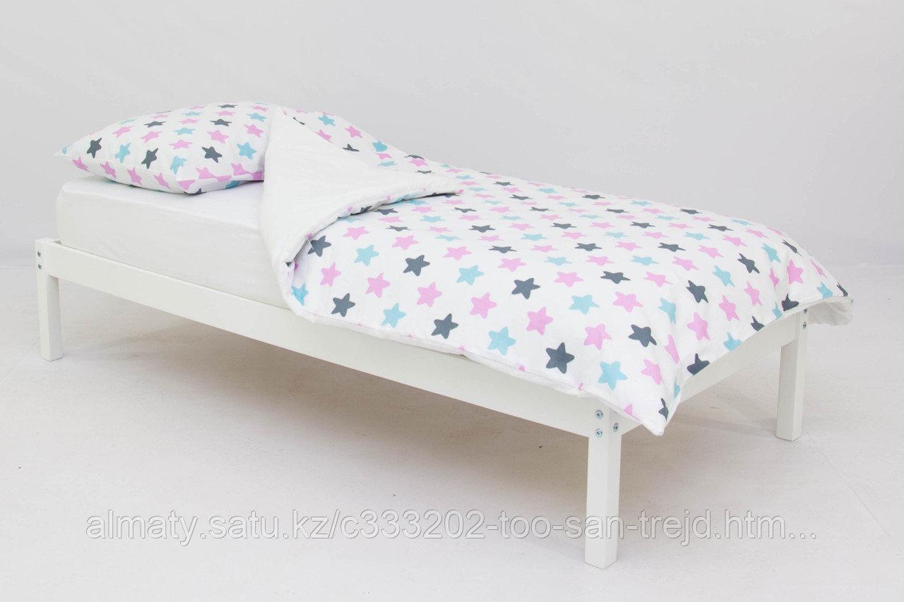 Детское постельное белье Бельмарко «Звезды графит, лаванда, бирюза»