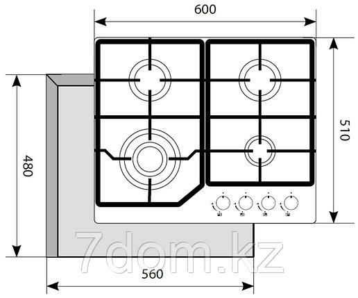 Варочная панель AKPO PGA 604 LGC-IV (БЕЖ), фото 2