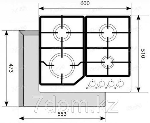 Варочная панель AKPO PGA 604 VGC-T-BL Defendi, фото 2