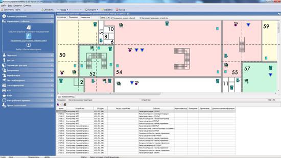 Программное обеспечение PERCo-SM08  Мониторинг