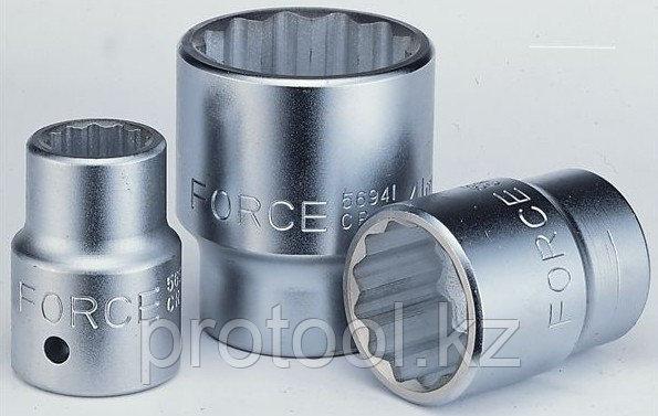 "Головка торцевая30мм 3/4"" 12-гранная L54мм F-56930""FORCE"", фото 2"