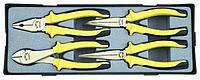 """Набор губцевого инструмента пассатижи,бокорезы,длинногубцы 4пр. в кейсе F-5046 """"FORCE"""""""
