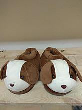 Тапочки собачки коричневые