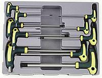 "Набор ключей шестигранных2-12мм с шаромпластиковая рукоятка 10пр. в ложементе F-5106B ""FORCE"""
