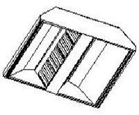 Островной вытяжной зонт МВО-0,5МСВ-03х1,3 из оцинкованной стали