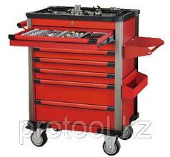 Шкаф инструментальный подкатной 286 предметов (7 секций) с инструментом (красный) F-10217R-286