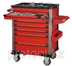Шкаф инструментальный подкатной 361 предмет (7 секций) с инструментом (красный) F-10217R-361