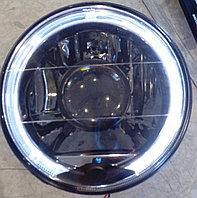 Фары линза, с диодной подсветкой (белые, черные) ВАЗ 2101-21214, фото 1