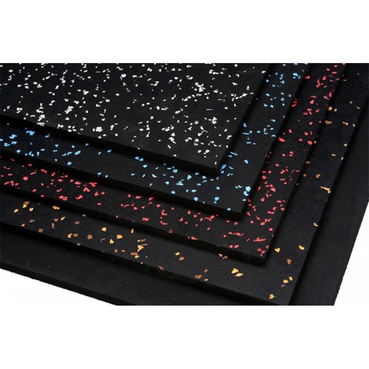 Резино-каучуковые покрытия 8 мм чёрный, с цветными вкраплениями