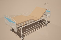 Кровать медицинская функциональная 4-х секционная «MCF KM 04-02/01» механическая, с фиксированной высоты