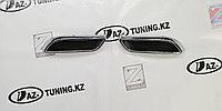 Катафот-муляж насадки двойного выхлопа в стиле Лексус  на Лада Приора 2 SE