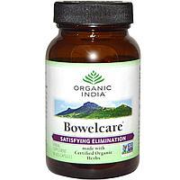 Bowelcare, Натуральный препарат для очищение кишечника, Organic India, 90 капсул