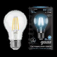 Лампа Gauss LED Filament A60 E27 8W 4100К