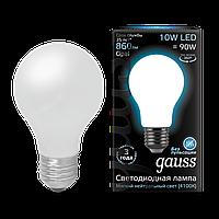Лампа Gauss LED Filament A60 OPAL E27 10W 4100 К