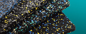 Резино-каучуковые покрытия Регупол BSW 8 мм чёрный, с цветными вкраплениями