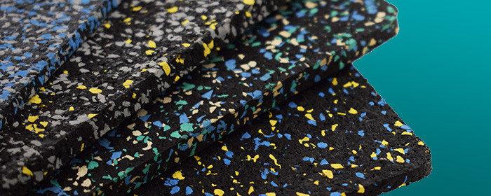 Резино-каучуковые покрытия Регупол BSW 8 мм чёрный, с цветными вкраплениями, фото 2