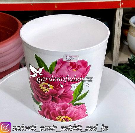 """Пластиковый горшок для орхидей """"Соломон"""". Цвет: Белый. Объем: 1.6л, фото 2"""