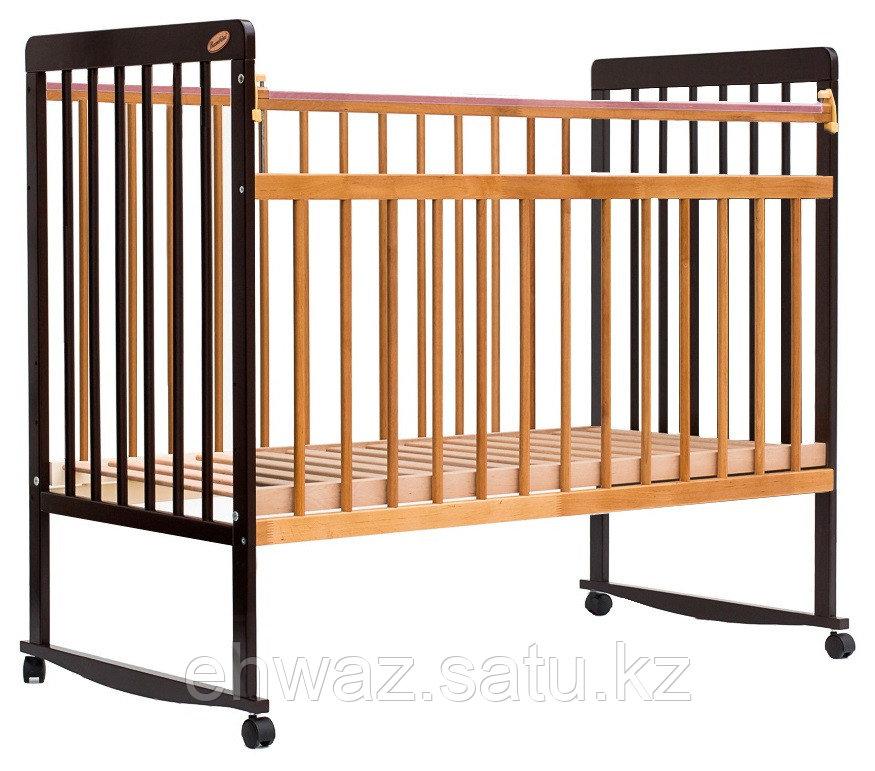 Кровать детская Bambini Евро стиль М 01.10.03 Темный орех+Натуральный