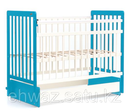 Кровать детская Bambini Евро стиль М 01.10.04 Бело-Голубой