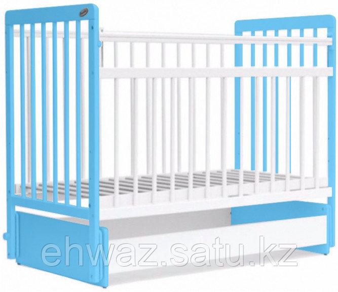 Кровать детская Bambini Евро стиль М 01.10.05 Бело-голубой