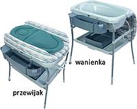 Пеленальный столик с ванночкой Chicco Cuddle & Bubble голубой