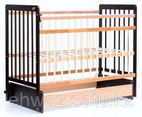 Кровать детская Bambini Евро стиль М 01.10.05 Темный орех+Натуральный