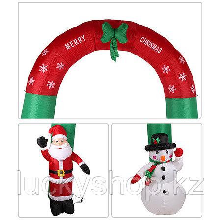 Новогодняя арка, дед мороз, снеговик, елки, новогодние игрушки, новогодние подарки, фото 2