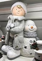 Снеговик с мальчиком, фото 1