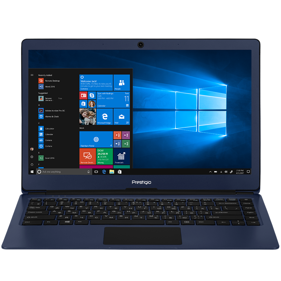 "Тонкий ноутбук Prestigio SmartBook 133S, 13.3"" (1920*1080), Blue"