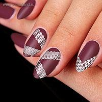 Трафареты для ногтей «Зиг-заги», 12 шт на подложке
