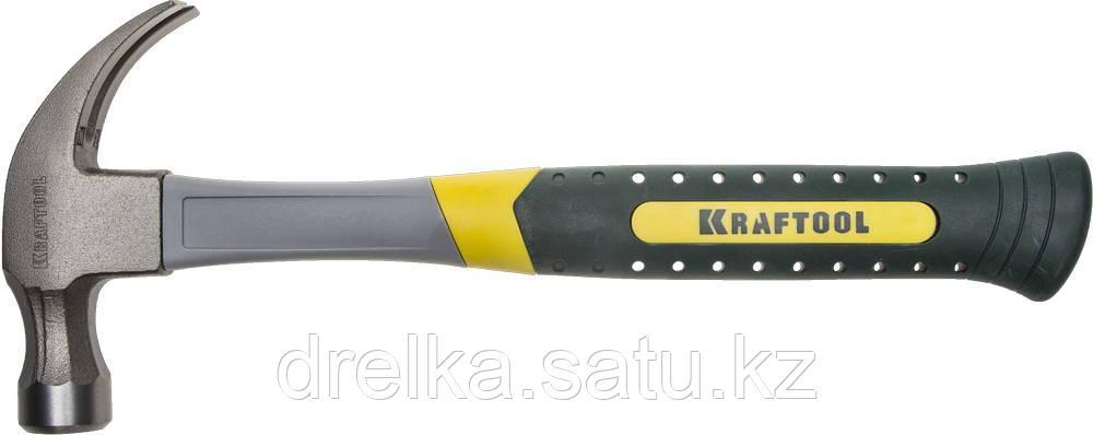 Молоток-гвоздодер 450 г с фиберглассовой рукояткой, KRAFTOOL 20280-450
