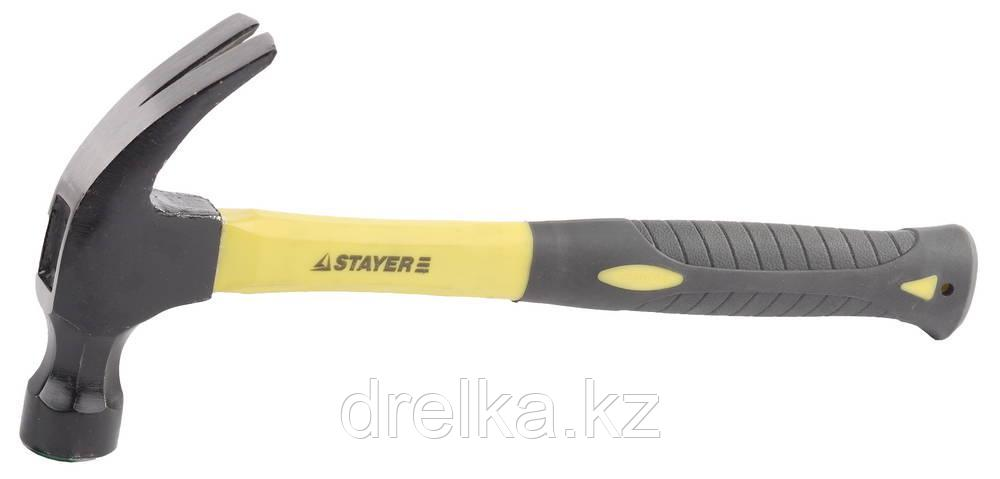 Молоток-гвоздодер 680 г с фиберглассовой рукояткой, STAYER Professional 2026