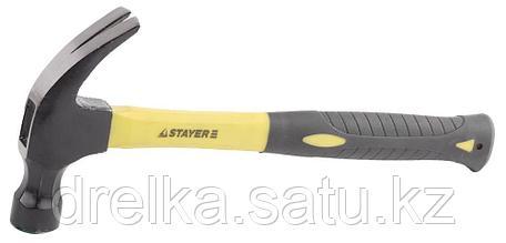 Молоток-гвоздодер 680 г с фиберглассовой рукояткой, STAYER Professional 2026, фото 2