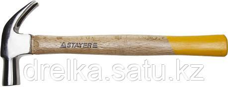 """Молоток-гвоздодер STAYER """"STANDARD"""" TopStrike кованый, с деревянной ручкой, 450г, фото 2"""