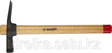 Молоток-кирочка КАМЕНЩИКА 400г с деревянной рукояткой, ЗУБР Мастер, фото 2