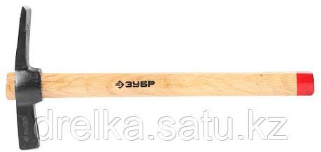 Молоток-кирочка КАМЕНЩИКА 500г с деревянной рукояткой, ЗУБР Мастер, фото 2