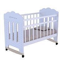 Кровать детская BONNE колесо-качалка белый