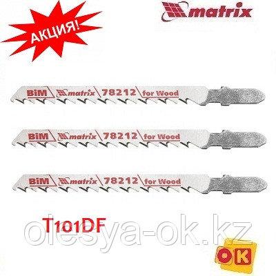 Полотна для электролобзика по дереву, 3 шт, T101DF, 75 x 4 мм, Bimetal. MATRIX Professional