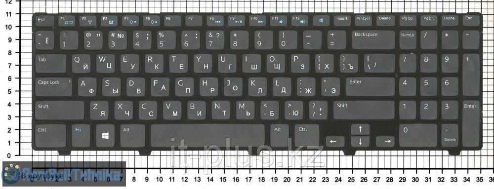 Клавиатура для ноутбука Dell Inspiron 15 3521/ 15R 5521/ RU, черная