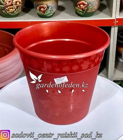 """Пластиковый горшок """"Клен"""". Цвет: Красный. Объем: 2л, фото 2"""