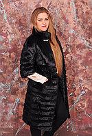 Женская шуба с фигурной стрижкой, натуральный мех