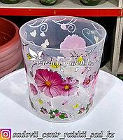 """Пластиковый горшок для орхидей """"Камилла"""". Цвет: Прозрачный. Объем: 1.8л"""
