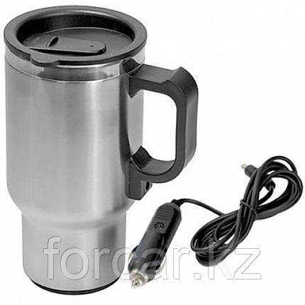 Термокружка (чайник автомобильный) с подогревом, нержавейка/пластик, 450 мл, 12V/24W, фото 2