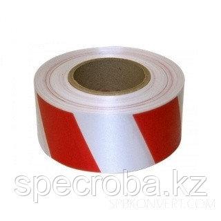 Лента сигнальная 500м красный с белым