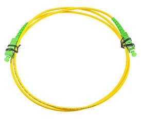 Оптический патч-корд SC APC 5 метров желтый