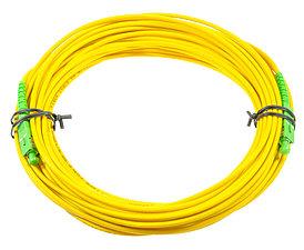 Оптический патч-корд SC APC 20 метров желтый